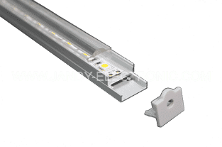 Y-A012 Ceiling aluminum LED profileOption: 1.PMMA clear diffuser