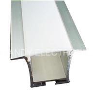 Y-A031 Waterproof led profile for floor, strong PC diffused cover,3mm thicknessOption: 1.PMMA opal matte diffuser