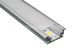 Y-A033 Waterproof led profile for floor, strong PC diffused cover,3mm thicknessOption: 1.PMMA opal matte diffuser